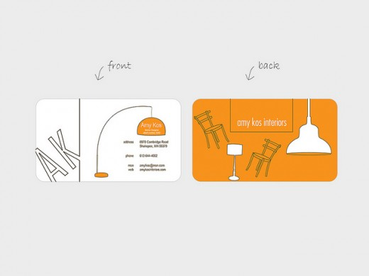 20 Super Creative Orange Business Cards | WordPress Aisle