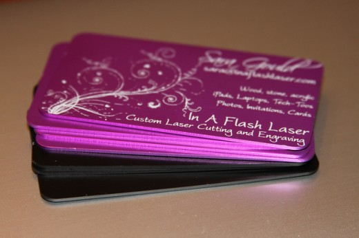 25 adorable purple business card designs wordpress aisle for Purple business cards