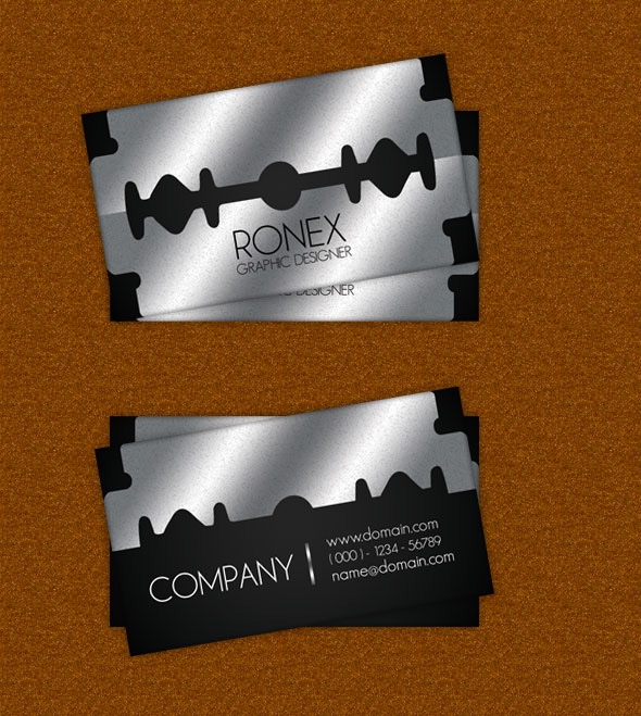 Razor Blade Business Card