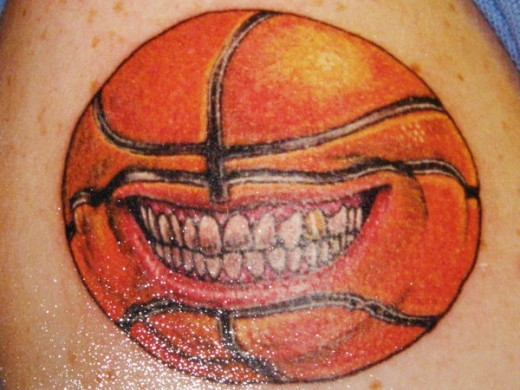 Delightful collection of basketball tattoos ideas for Basketball tattoos on arm