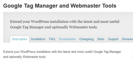 Google Tag Manager and Webmaster Tools