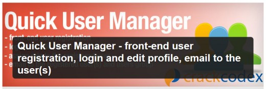 Quick User Manager