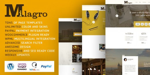 Milagro - Learning and Courses WordPress Theme