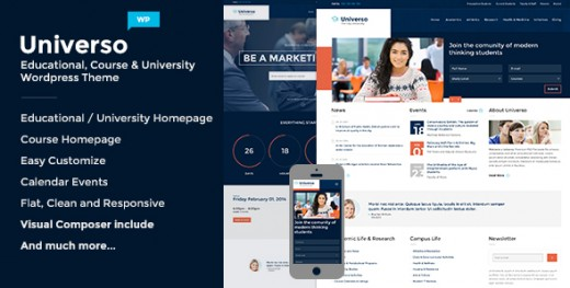 Universo - Powerful Education, Courses & Events Theme