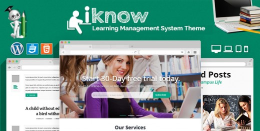 iKnow - Learning Management System WP Theme